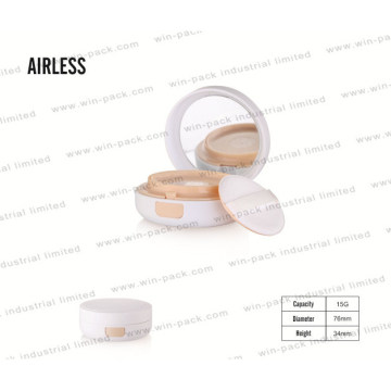 White Cheap Price Cosmetic Powder Case Round Loose Powder Compact Case