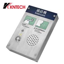 Teléfono impermeable antidisturbios intercomunicador de emergencia Teléfono Knzd-30