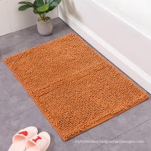 Cheap Bathroom Washable Comfortable Anti Skid Mat Soft Shaggy Absorbent Water Microfiber bath mats for shower floorH
