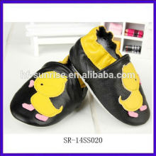 SR-14SS020 fashion real leather funny baby shoes cute new china cheap baby shoes flat animal shoes baby