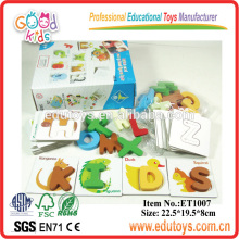 Kindergarten Kinder erkannt Lehrblöcke Spielzeug Hölzernes Alphabet