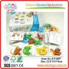 Kindergarten Children Recognized Teaching Blocks Toy Wooden Alphabet