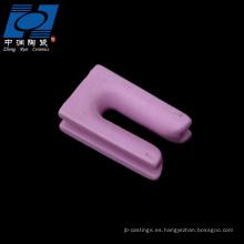 Piezas de cerámica tipo u color rosa