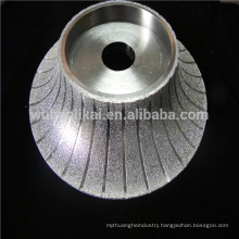 brazed diamond grinding wheel for shaping marble stone