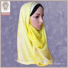 Hijab musulmán de la manera de encargo de la seda 100