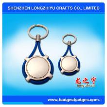Custom Tennis Racket Shape Keychain Llavero de aleación de zinc
