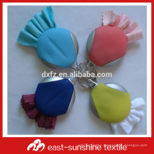 microfiber screen printing cleaning cloth key chain