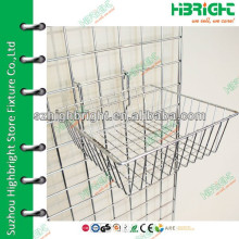 Heavy duty storage hanging slatwall basket
