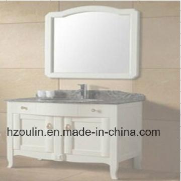 Белая деревянная мебель для ванной комнаты (BA-1144)