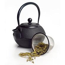 Gusseisen Teekanne mit Sieb