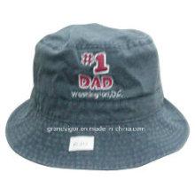 Пигмент Dyed Хлопок Twill Ведро Hat для мужчин