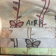 China Supplier for Jacquard Blackout Curtains Green Butterfly Blackout Curtain Fabric export to New Caledonia Factory
