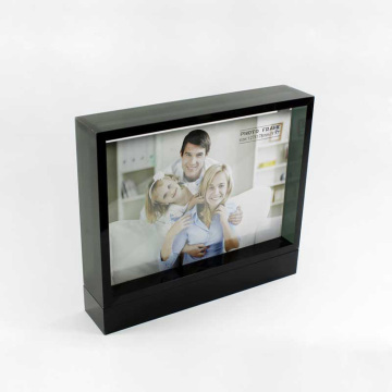 Aangepaste zwarte acryl Picture Photo Box Frame