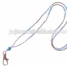 Longe de collier de perles de cristal à la main de mode