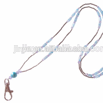 Cordón hecho a mano del collar del grano cristalino de la moda