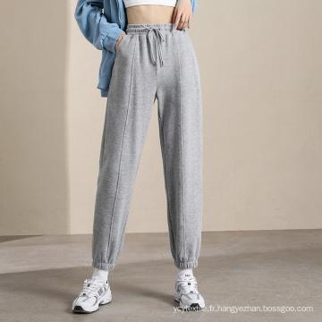 2021 Ventes chaudes Pantalons de survêtement gris pour femmes en gros