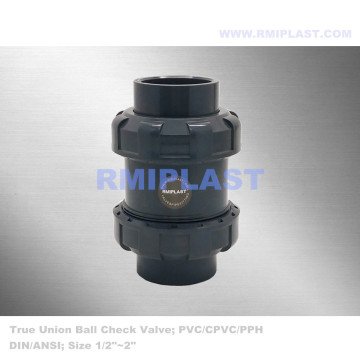 True Union Ball Check Valve PVC