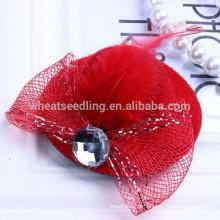 6 cores único design chapéu em forma de moda miúdos cabelo clips