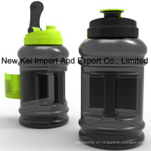 Botella de agua plástica al por mayor de 2.2 / 2.5L PETG con el envase