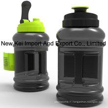 Vente en gros 2.2 / 2.5L PETG Bouteille d'eau en plastique avec récipient