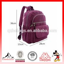 Fabricantes de la mochila de las mujeres Fabricantes de la mochila del viaje de la lona de China