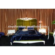 Muebles de dormitorio de estilo francés con acabado de oro BD8017