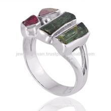 New Arrival Turmalina Gemstone 925 Sterling Silver Ring Wholesale Supplier Jewelry