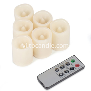 Outdoor timer LED candle set