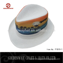 Wholesale Wide brim White Fedora hats