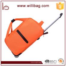 Waterproof Travel Trolley Bag Oxford Duffle Bag With 2-Wheel