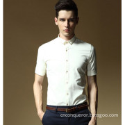 Slim Fit Man Cotton Shirt in Italy Style