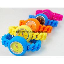 Reloj de gelatina de silicona para niños populares para niños