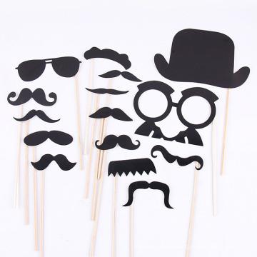FQ marca de la fiesta de Navidad Funny Mask Photo booth apoyos apoyos de la barba