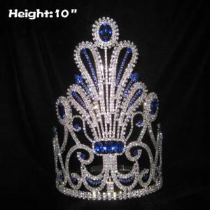 Grandes coronas de reina de concurso de cristal únicas