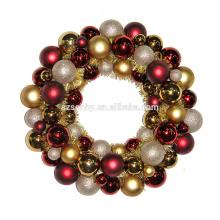 NUEVO TIPO guirnalda plástica de la bola de la Navidad con el oropel