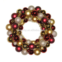 NEW TYPE plastic christmas ball garland with tinsel