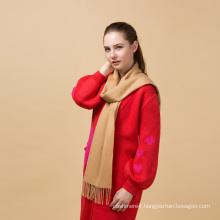 Top fashion unique design plain wool scarf