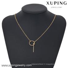 43188- Xuping Date femmes plus décontracté chaîne collier affichage