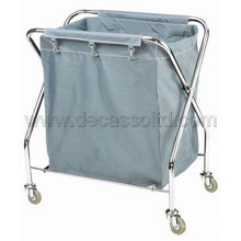 X-Shaped Stainless Steel Linen Trolley (DD32)
