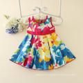 Heißer Großverkauf-koreanische Art-Mädchen druckte Kleid-süßes Kind-beiläufiges Kleid-hübsche kleine Mädchen-Kleidung für Säuglinge