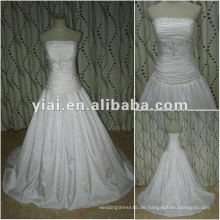 Hochwertige lange Zug Ballkleid Taft Brautkleider neuesten Kleid Designs in China