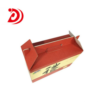 Food cardboard box with handle