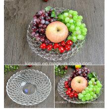 Bol de fruits en verre de cristal de mode pour la vaisselle