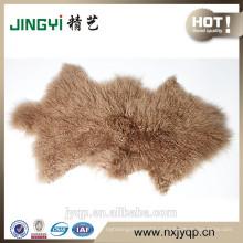 2017 China Suppliers curly lamb skin fur Sheep Mat