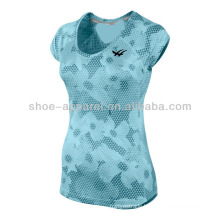 2014 PRINTED MILER V-NECK running shirts for women