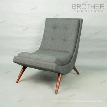 Chaise longue de style français avec pouf