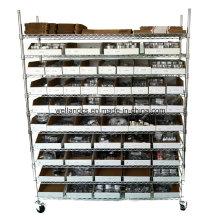 Rack de prateleiras de arame metálico de cromo de 800 libras para armazenamento em armazéns