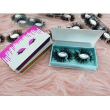 3D 5D 25mm 100% Real Mink Strip Eyelash Wholesale with Private Logo Label 2 Pairs; Ashes in 1 Box