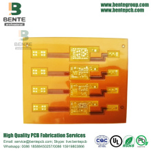 Flex board 2laags ENIG Yellow Soldermask BentePCB