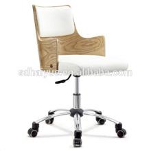 HY2015 silla giratoria de cuero de madera / silla de escritorio